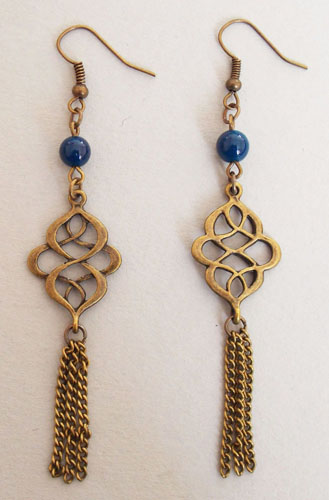 Metal Cloud Knots Earrings