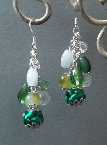 Exquisite Green Button Knot with Jade Earrings