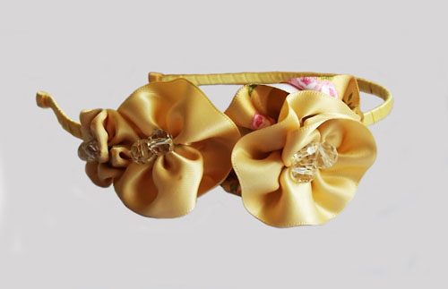 Bright Champagne Floral Headband