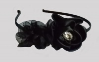 Black Triple Camellia Headband